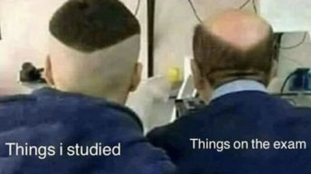 What I studied vs things on the test meme