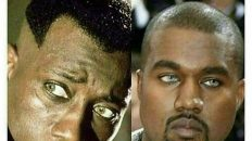 Kanye West looks like Blade's little brother butter knife meme