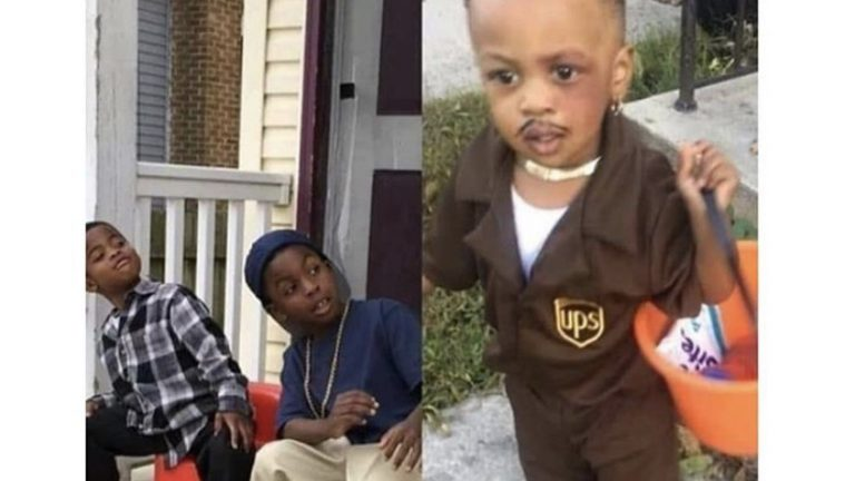 babies dressed up as friday characters