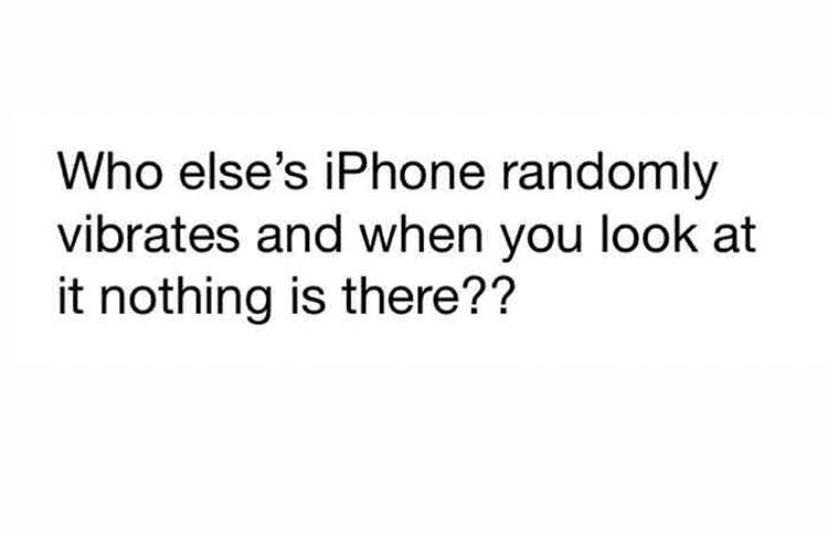 iPhone randomly vibrates