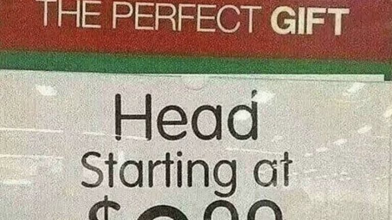 the perfect gift head starting at 999 picture