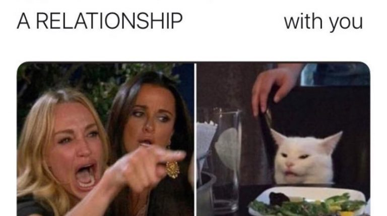 not ready relationship angry cat meme