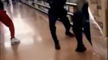 Walmart worker fight