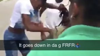 girls brawl in the street