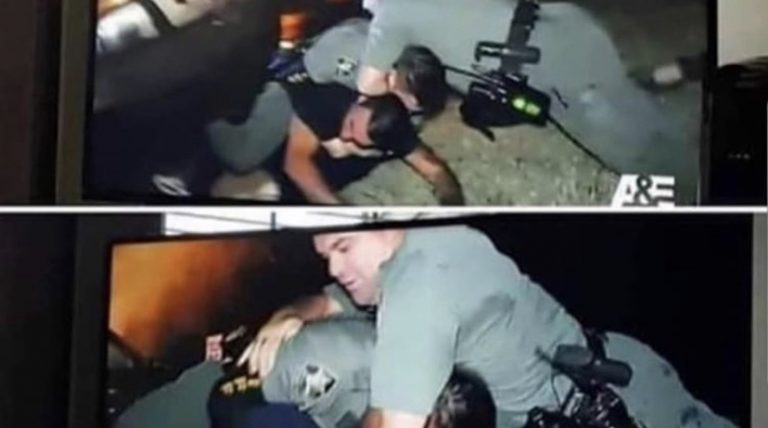 Cop chokes the wrong person