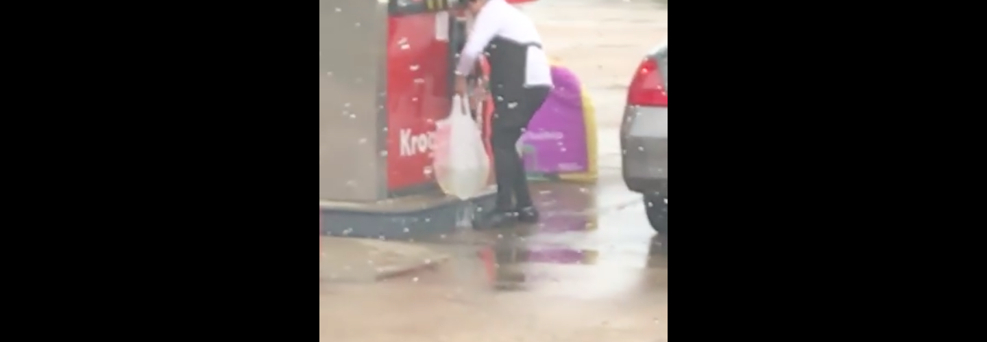 Woman bags gasoline