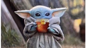 Me faking a stomach ache watching brother go to school baby yoda meme