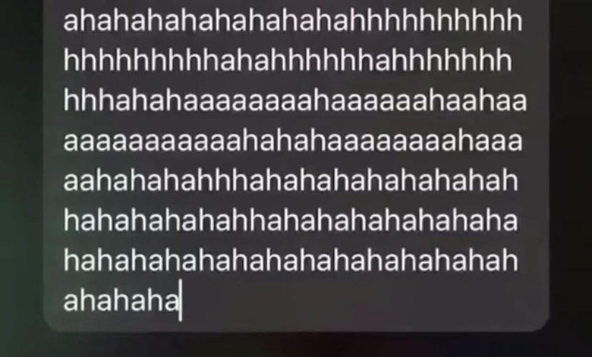 Siri call me Hahaha