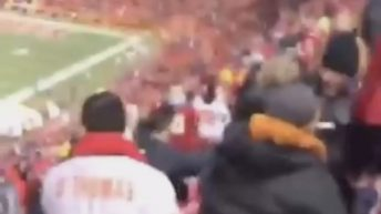 KC Chiefs fans fight in stadium