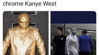 I want gold Cee lo Green & chrome Kanye West to fight