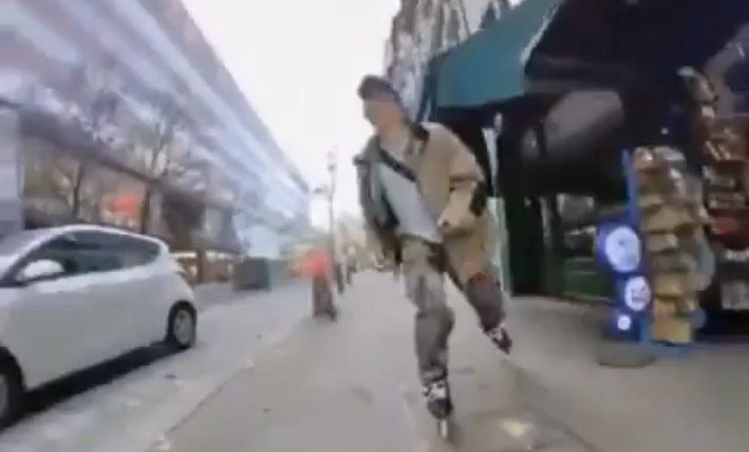 skateboarder hit by car door