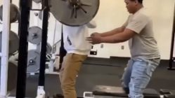 Squat fail in gym