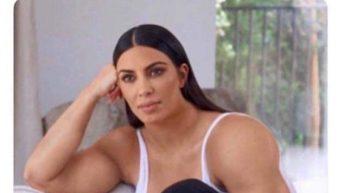 When you miss him but you gotta stay strong Kim kardashian meme