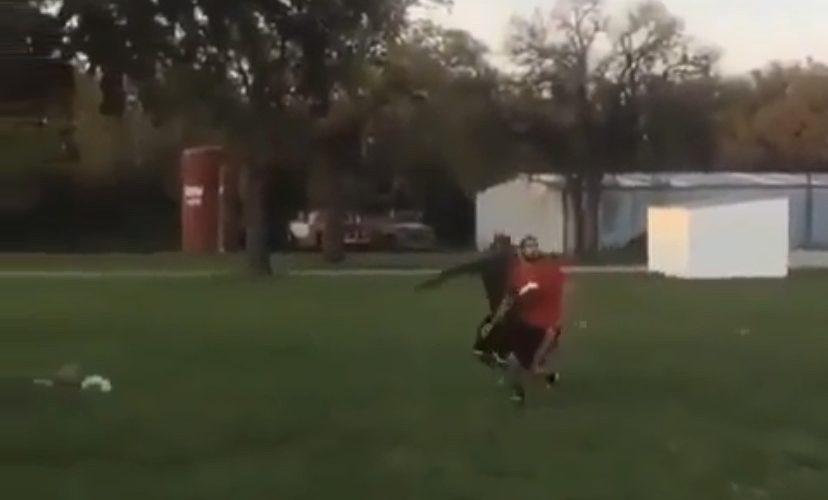 Football catching fail
