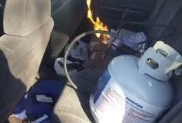 Heating a car with propane