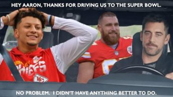 Patrick Mahomes thanks for driving us to the Super Bowl meme