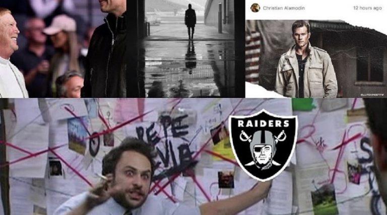 Tom Brady becoming a Raider meme