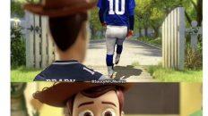 Tom Brady saying goodbye to his dad one last time Toy Story meme