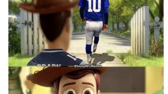 Tom Brady saying goodbye to his dad one last time Toy Story meme
