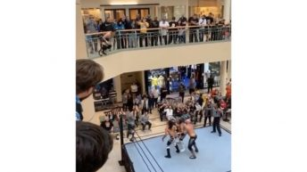 amateur wrestling match in mall