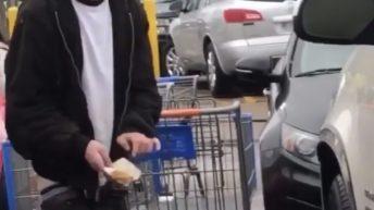 Man caught pooping in public