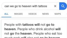 can you go to heaven with tattoos google search