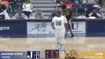 JSU student manager makes 3 point shot in game