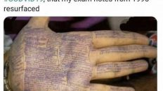 Washed my hands so much do to COVID19, that my exam notes from 1995 resurfaced meme