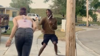 Man runs into pole after woman sneezes