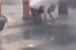 Man wipes on fire hydrant