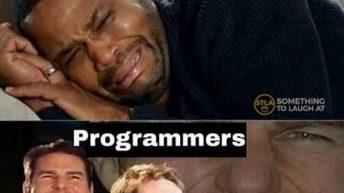 Normal people vs programmers social distancing meme