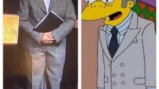 Chicago Mayor dressed like Moe from the Simpsons