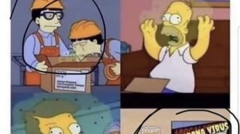 The Simpsons predicted the Coronavirus meme