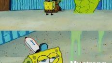 Coronavirus vs my strong immune system Spongebob meme