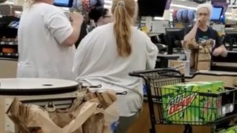 Couple flips out over Mountain Dew in grocery store