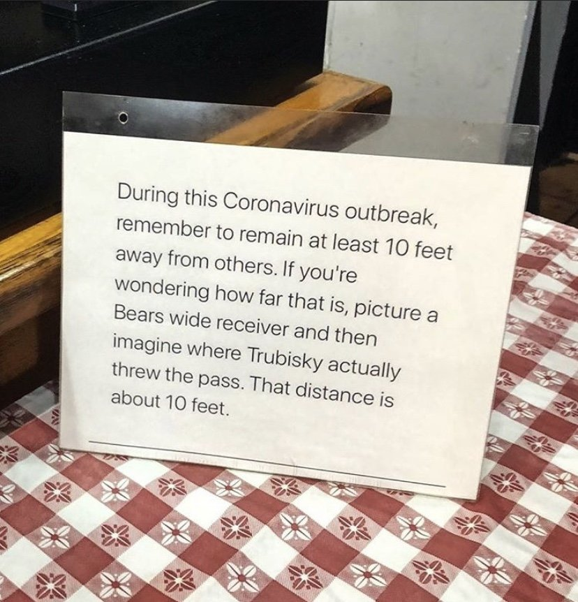 Business funny social distancing sign