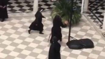 Nuns play basketball