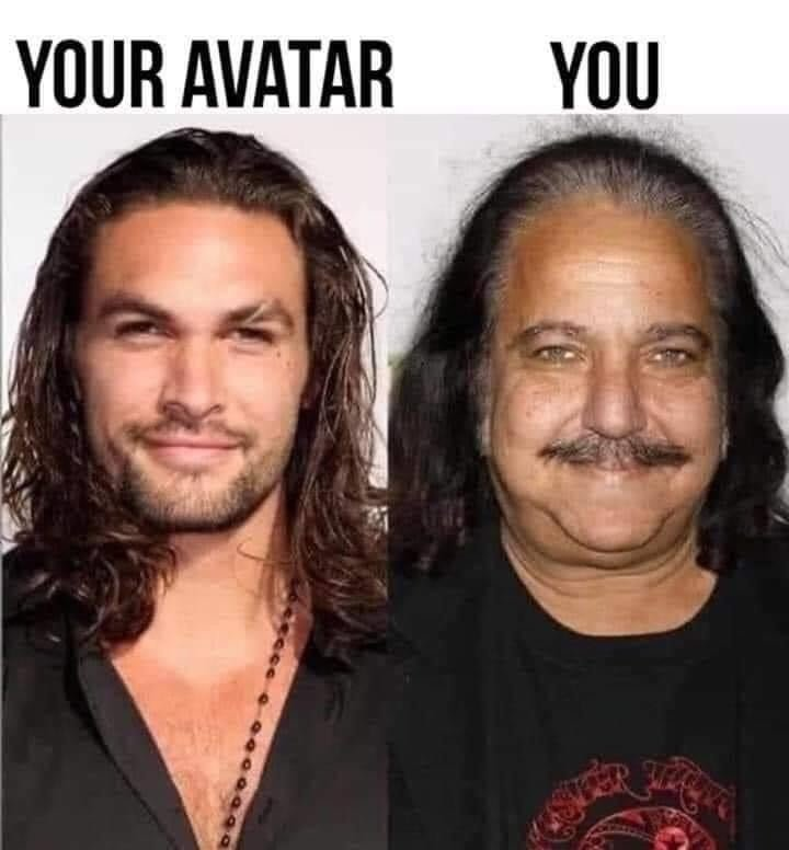 Your avatar vs you Jason Momoa meme