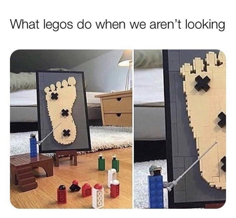 What legos do when we aren't looking meme