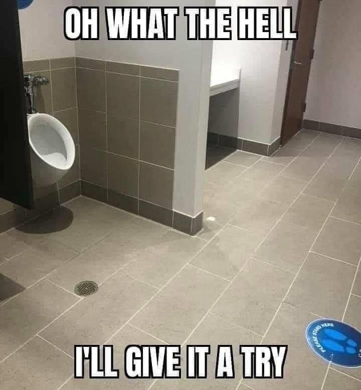 social distance urinal meme
