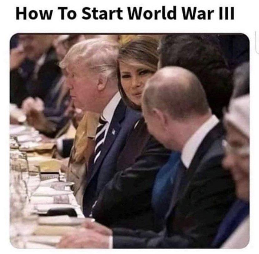 How to start WWIII meme