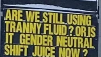 Are we using tranny fluid or is it gender neutral meme