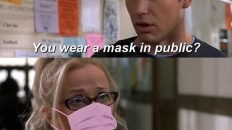 Legally Blonde wearing a mask meme