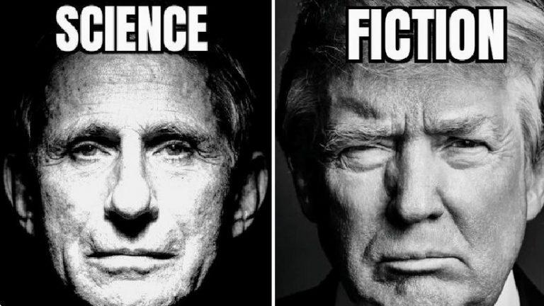 Science fiction Dr. Fauci Trump meme