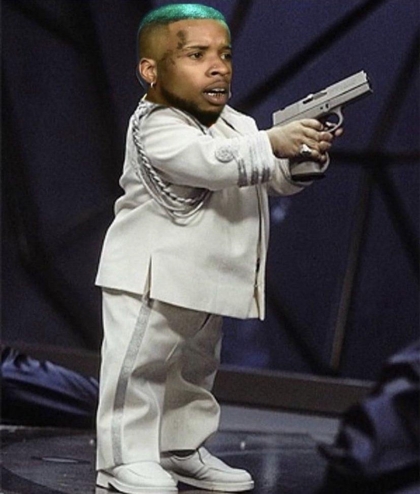 Tory Lanez mini me gun meme