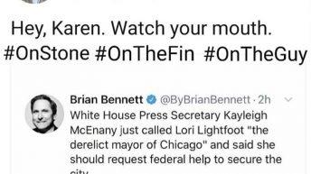 Lori Lightfoot takes on WH Press Secretary