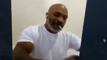 Mike Tyson and Roy Jones Jr sign paper for exhibition match