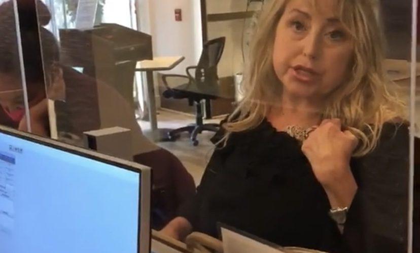 Karen gets mad at hotel staff for wearing mask