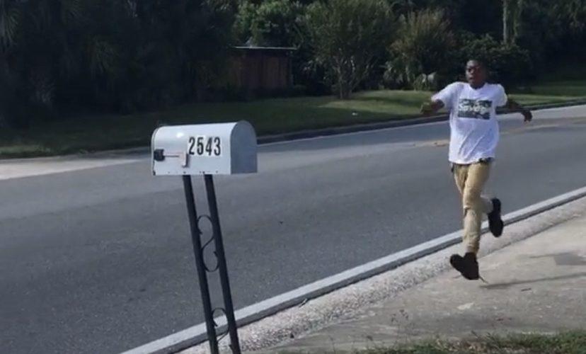 Jumping over mailbox fail