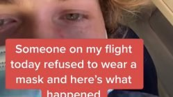 Man gets kicked off flight for not wearing mask
